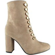 Felice Pink Ankle Boots