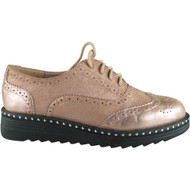 Immy Pink Brogue Loafers Casual Shoes