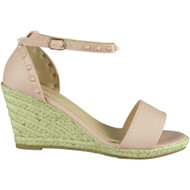 Isla Pink Ankle Strap Wedge Sandals