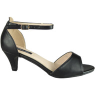 Wendy Black Peep Toe Party Sandal