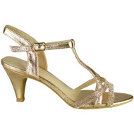 Nabby Champagne T Bar Party Shoes