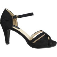 Fary Black High Heel Party Sandals