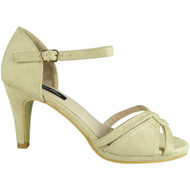 Fary Beige High Heel Party Sandals