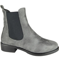 Fair Grey Chelsea Ankle Boots