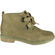 Faigy Khaki Lace Up Ankle Boots