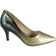 Lindy Gold Pointy Party Shoes