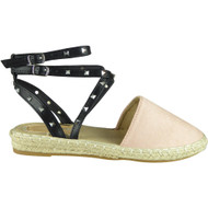 Tony Pink Ankle Strap Flat Summer Sandals