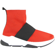 Gale Red Flat Comfy Gym Shoes