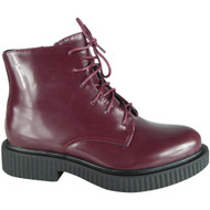 Connee Wine Ankle Creepers Grip Shoes