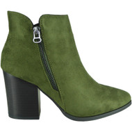 Wilma Green High Heel Ankle Fashion Shoes