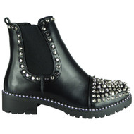 Clare Black Studded Goth Fashion Shoes