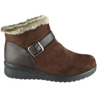 Winnie Coffee Winter Faux Fur Casual Shoes