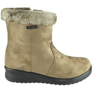 Annabel Khaki Winter Faux Fur Casual Warm Shoes