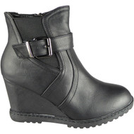 Jamie Black Ankle Zip Winter Fashion Shoes
