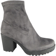 Janie Grey Faux Suede Casual Party Shoes