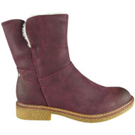 Pammy Maroon Faux Suede Casual Winter Shoes