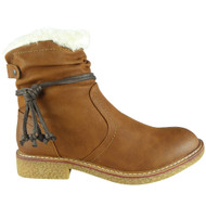 Fauna Camel Faux Fur Casual Winter Shoes