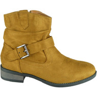 Adela Camel Winter Pixie Buckle Casual Shoes