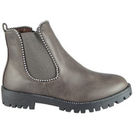 Aggie Grey Winter Low Heel Chelsea Winter Shoes