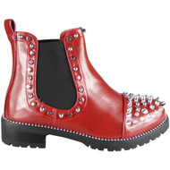 Ilene Red Chelsea Studded Winter Casual Shoes