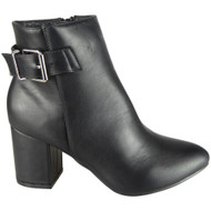 Vinny Black Winter Casual High Heel Shoes