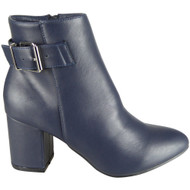 Vinny Blue Winter Casual High Heel Shoes