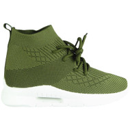 Arable Green Sock Jogging Heel Shoes