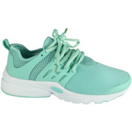 April Mint Green Lace Up Flat Trainers