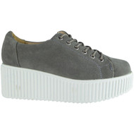 Dino Grey Platform Flat Casual Comfy Shoes