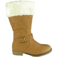 Lorrie Camel Winter Warm Faux Fur Casual Shoes