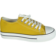 Carlyne Yellow Lace Up Flat Comfy Fitness Shoes