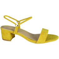 Charlie Yellow Peep Toe Comfy Sandals