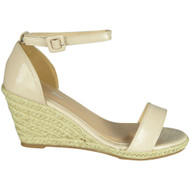 Carolina Beige High Heel Summer Sandals