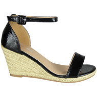 Carolina Black High Heel Summer Sandals