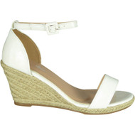Carolina White High Heel Summer Sandals