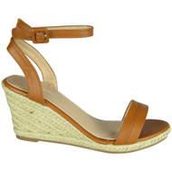 Carline Camel High Heel Summer Sandals