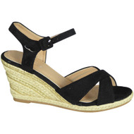 Lynne Black High Heel Summer Sandals