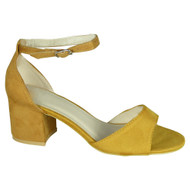 Daniel Yellow Mid Heel Summer Sandals
