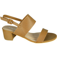 Darlyne Camel Peep Toe Summer Sandals