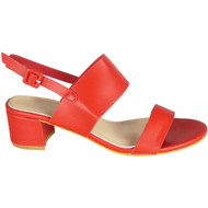 Darlyne Red Peep Toe Summer Sandals