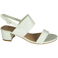 Darlyne White Peep Toe Summer Sandals