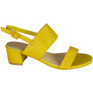 Darlyne Yellow Peep Toe Summer Sandals