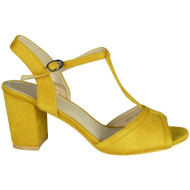 Denise Yellow High Heel Party Sandals
