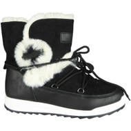 Dianne Black Winter Warm Faux Fur Snow Shoes