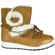 Dianne Camel Winter Warm Faux Fur Snow Shoes
