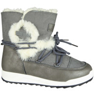 Dianne Grey Winter Warm Faux Fur Snow Shoes