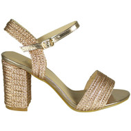 Delores Champagne Party Wedding High Heel Sandal