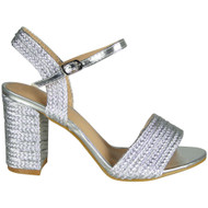 Delores Silver Party Wedding High Heel Sandal