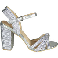 Dorrie Silver Party Wedding High Heel Sandals