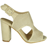 Doreen Beige Slingback Party Sandals